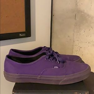 Mono Purple Vans Authentic